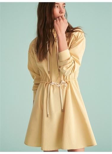 Nocturne Bağcık Detaylı Mini Elbise Sarı